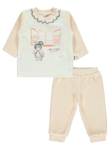 Civil Baby Kız Bebek Pijama Takımı Somon